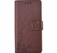 Butterflies Embossed PU Leather Material Leather  for iPhone 6s 6 Plus SE 5s 5