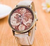 Masculino Mulheres Relógio Esportivo Relógio Elegante Relógio de Moda Relógio de Pulso Quartzo Mostrador Grande Tecido BandaPendente