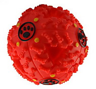 Cat Toy Dog Toy Pet Toys Ball Squeak / Squeaking Food Dispenser Red Black Blue Rubber