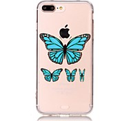 For Apple iphone 7 plus/iphone 7 Case Transparent Silicone Soft Cover Case TPU Clear Butterfly Back Cover Case For iPhone 6 Plus/ iPhone 6