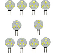 3W G4 2-pins LED-lampen T 6 SMD 5730 200-300 lm Warm wit / Koel wit Decoratief DC 12 V 10 stuks