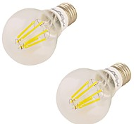 2pcs youoklight E27 6W 6 * LED 550LM 3000K calientes bombillas de Edison, de luz blanca filamento (85-265V)