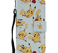 A Plurality Of Elf Pattern PU Leather Material Colored Lanyard Card Phone Case For iPhone 7 7 Plus