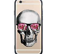 Humerous Skull Back Cover Dustproof/Pattern Skull TPU and PC Soft Case Cover for iPhone 6s Plus/6 Plus /6s/6/SE/5s/5