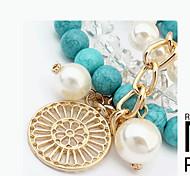 Bracelet Charmes pour Bracelets / Bracelets de rive / Bracelets Wrap Gemme Forme de Cercle Mode Décontracté Bijoux Cadeau Taies,1pc