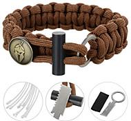 Bracelet de survie / Multifonctions Randonnées / Camping / Voyage / Outdoor / Indoor / CyclismeMilitaire / Multi Function / Survie / Kit