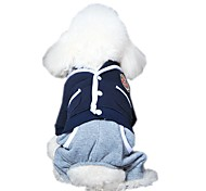 Fashion Preppy Style School Uniform Design Jumpsuit   for Pets Dogs (Assorted Sizes and Colours)
