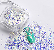 2g/box New Symphony Blue Paillette Glitter Nails 3d Slice Powder Set DIY Design Nail Art Sequins Decoration(35 Model)