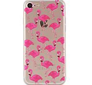 Для Кейс для iPhone 7 / Кейс для iPhone 6 / Кейс для iPhone 5 С узором Кейс для Задняя крышка Кейс для Животный принт Мягкий TPU Apple