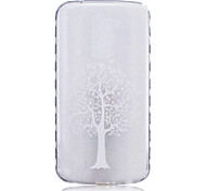 TPU Material White Tree Pattern Painted Slip Phone Case for LG K10/K8/K7/K5/K4/G5/G4/G3