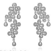 Ohrring / Kreisform Tropfen-Ohrringe Schmuck Damen Modisch Alltag / Normal Gold 1 Paar Silber / Blau Other