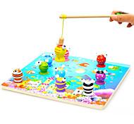 деревянные детей 3D стерео магнитная рыбалка игрушка набор ребенок головоломки игрушки