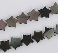 Beadia 10mm Star Natural Black Lip Sea Shell Beads(38cm/approx 43pcs)