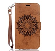 Mandala Embossed Leather Wallet for Samsung Galaxy J3 J3(2016) J5 J5(2016)