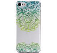 Per retro A fantasia Fiore decorativo TPU Morbido Copertura di caso per AppleiPhone 7 Plus / iPhone 7 / iPhone 6s Plus/6 Plus / iPhone