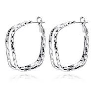 Earring Square Hoop Earrings Jewelry Women Fashion