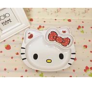 Hello Kitty Kt Cat Head Lovely Cutlery Wholesale Children'S Fine Melamine Plate Melamine Plate