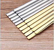 Stainless Steel Solid Flat Chopsticks Set