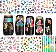 4 Nail Art Sticker Adesivi 3D unghie Astratto makeup Cosmetic Nail Art Design