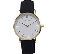 Ladies' Fahion Simple Elegant Design Leather Wrist Quartz Watch