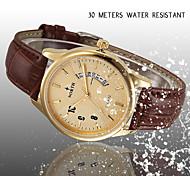 Genuine Leather Calendar Casual Watch Men Quartz-Watch For Men Waterproof Bussiness Watch Waterproof Watches Relojes