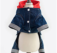 Dog Denim Jacket/Jeans Jacket Blue Dog Clothes Winter Cartoon Cowboy