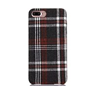 Slim Wove Checkered Canvas Slim Soft PU Leather Material Phone Case for  iPhone 7 7plus 6S 6plus