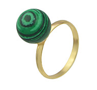 Finger Ring with Imitation Turquoise Ball for Ladies
