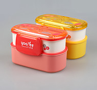 Tableware Plastic Type Bento Box Lunch Container with Spoon