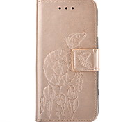 Campanula Embossed PU Leather Material Leather  for Samsung Galaxy S5 S6 S6 edge