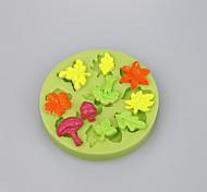Кленовый лист&Форма листьев фондант торт украшение форма кухня аксессуары конфеты плесень цвет случайный