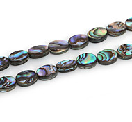 Beadia 8x10mm Oval Natural Abalone Sea Shell Beads (38cm/approx 38pcs)