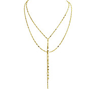 Latest Fashion Multilayers Gold Color Long Chain Party Necklaces