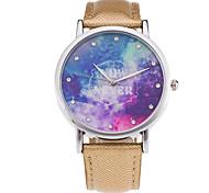 Women's Fashion Watch / Wrist watch Quartz / PU Band Cool / Casual Black / White / Green / Gold / Pink / Rose Brand