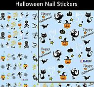 6pcs Nail Art Sticker Gioielli per unghie / Adesivi 3D unghie Adorabile / Punk makeup Cosmetic Nail Art Design