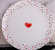 Western Steak Dish Bone China Tableware Jingdezhen Ceramic Children Breakfast Fruit Plate 8 Inch Korean Dishes