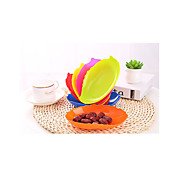 E305 Colored Leaf-Shaped Plastic Fruit Bowl Candy Dish Snack Tray Factory Price J3 Seeds