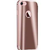 Para Espejo Funda Cubierta Trasera Funda Un Color Dura Metal Apple iPhone 7 Plus / iPhone 7