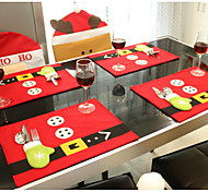 bureau 1set décoration de Noël tapis de table 45cm * 33cmknives et fourchettes sac