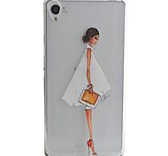 Para Funda Sony / Xperia XA Diseños Funda Cubierta Trasera Funda Chica Sexy Suave TPU para Sony Sony Xperia XA / Sony Xperia E5