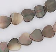 beadia 10mm Herz natürliche schwarze Lippe Meer Muschelperlen (38cm / ca. 39pcs)
