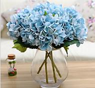 Set of 1 PCS 1 Филиал Полиэстер Гортензии Букеты на стол Искусственные Цветы 17*5.9