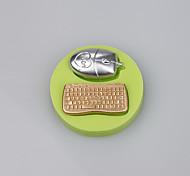 Muffa della torta del fondente della caramella di forma del mouse e della tastiera per la cottura della cucina muffe casuali di colore