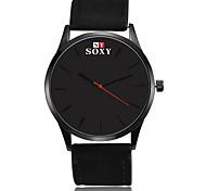 SOXY® Fashion Men's Business Dress Watch Leather Strap Creative Casual Analog Quartz Wrist Watches