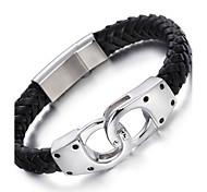Bracelet Bracelets en cuir Acier inoxydable Cuir Forme Géométrique ModeHalloween Anniversaire Soirée Quotidien Décontracté Regalos de