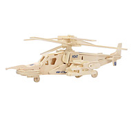 Jigsaw Puzzles 3D Puzzles / Wooden Puzzles Building Blocks DIY Toys Helicopter Wood Beige Model & Building Toy
