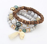 Bracelet Charm Bracelet / Wrap Bracelet Agate Circle Fashion Daily Jewelry Gift Black / White / Red1pc