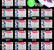 18x Packs French Tip Guides Smile Line Nail Art Manicure Stickers shape angle curve 18Styles