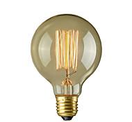 40W E27 Retro Industry Style Globe Transparent Incandescent Bulb