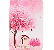 Full Body Card Holder / Wallet Cherry Tree PU Leather Hard Case Cover For Apple iPad Mini 4 / iPad Mini 3/2/1